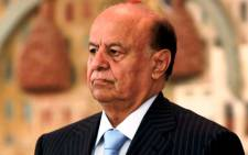 A file picture taken on 21 February, 2013 shows Yemeni President Abd-Rabbuh Mansur Hadi at a ministry of interior conference in the capital Sanaa. Picture: AFP.