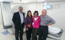 From left to right: Neurosurgeon and radiation oncologist Dr Dheerendra Prasad of the Roswell Park Cancer Institute in New York, radiation oncologist Dr Sylvia Rodrigue,  patient Mrs Melanie Thomson and neurosurgeon Dr Frans Swart. Mrs Thomson, who suffers from trigeminal neuralgia, was one of the first patients to receive Gamma Knife Icon treatment at Netcare Milpark Hospital. Picture: Supplied.