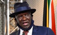 FILE: Police Minister Bheki Cele releases the first quarter crime statistics for 2020/2021 at a media briefing on 14 August 2020. Picture: GCIS