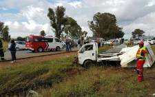 Twenty-five people have been injured in an accident in the Vaal. Picture: Twitter/@ER24EMS.