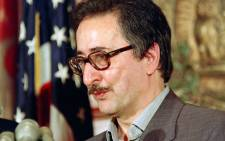In this file photo taken on 7 May 1991, former president of Iran, Abolhassan Banisadr speaks at the National Press Club in Washington. Picture: AFP