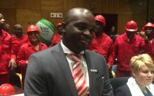 DA mayoral elect Solly Msimanga at the Tshwane Council Chambers. Picture: Kgothatso Mogale/EWN.