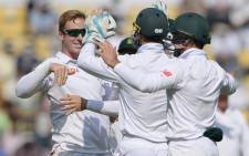 Proteas' player celebrate the fall of a wicket against India. Picture: CSA official Facebook page.