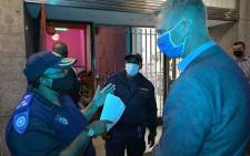 FILE: Alderman JP Smith joins law enforcement officials during a compliance operation in Bellville. Picture: City of Cape Town.