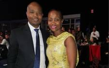 Radio owner Given Mkhari and his wife Ipeleng. Picture: @mkharigiven/Instagram