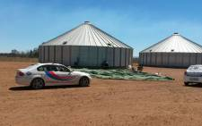 Forensic teams at the Carletonville silo where a man's body was found. Picture: Gladiator Distress Alert