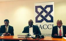 SACCI gives press briefing on consultation with business on key legislation. Picture: Govan Whittles/EWN