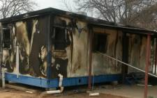 The police say municipal buildings and other government properties we torched during the protest on 8 September 2015. Picture: SAPS.