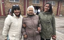 Merle Adams, Sylvia Voges and Kirsten De Villiers came out to vote in the cold on 8 May 2019. The family members made their mark at a station in Durbanville. Picture: Monique Mortlock/EWN.