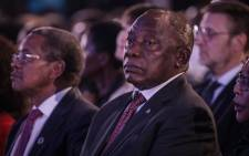FILE: President Cyril Ramaphosa at the National Results Operation Centre during the election results announcement on 11 May. Picture: Abigail Javier/EWN.