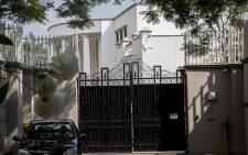 The compound belonging to the Gupta family in Saxonwold. Picture: EWN