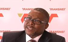 A video screengrab of Transnet CEO Siyabonga Gama. Picture: YouTube