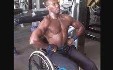"""SA's wheelchair bodybuilder Macethandile """"Max"""" Kulati. Picture: @macethandilekulati/Instagram."""