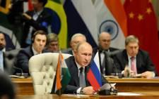Russian President Vladimir Putin at the 10th Annual BRICS Summit in Sandton, Johannesburg. Picture: Twitter/@PresidencyZA