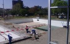 The diving pool and area between main pool still at the Mangaung Swimming Complex are still to be completed. Picture: Supplied.