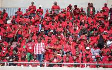 EFF supporters at the Giant Stadium in Soshanguve on 2 February for the party's election manifesto launch. Picture: EWN