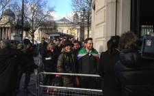 SA citizens line up to leave tribute messages for Nelson Mandela at South Africa House in Trafalgar Square. Picture: Mandy Southgate/iWitness