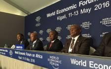SA WEF delegation in Rwanda. Picture: Vumani Mkhize/EWN.