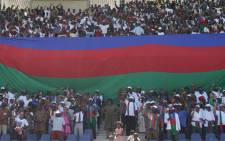 Ruling Namibian political party, SWAPO party, during one of their rally ahead of national election. Picture: Facebook.com