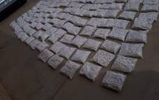 Stashes of Mandrax pills confiscated from a 35-year-old man the Klawer Weighbridge on the N7 Highway on Thursday, 18 January 2018. Picture: SAPoliceService/Facebook