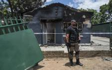 Houses that were torched by community members in Rustenburg after they claimed that the houses were used a drug dens and brothels. Picture: Ihsaan Haffejee/EWN
