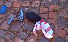 Weapons found at the scene of an attempted robbery and shootout in Highlands North in Johannesburg on 26 April 2013. Picture: Supplied.