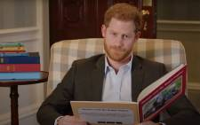 A YouTube screengrab of Prince Harry introducing a special episode of 'Thomas and Friends'.