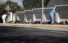 Nineteen suspects were apprehended following a shootout with police near Carnival Mall in Brakpan on 23 July 2021. Police said two other suspects and one SAPS member were also killed in the crossfire. Picture: Xanderleigh Dookey Makhaza/Eyewitness News
