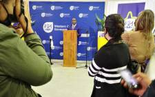Western Cape Transport MEC Bonginkosi Madikizela launches the province's Easter traffic safety plan in Brackenfell, Cape Town on 31 March 2021. Picture: @WCGovTPW/ Twitter