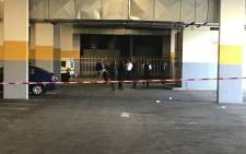 FILE: Police on the scene at the Glen Shopping Centre's basement. Picture: Kgothatso Mogale/EWN