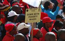 FILE: Thousands of public servants march in the Pretoria CBD for better wages. Picture: EWN