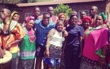 EWN's Vumani Mkhize (middle) took some time out to celebrate Heritage Day with the Soweto Gospel Choir in Soweto on 24 September 2014. Picture: Vumani Mkhize/EWN.