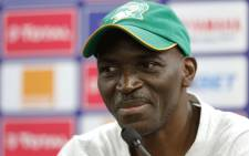 Ivory Coast's coach Ibrahim Kamara attends a press conference at the Suez stadium in Suez on July 07, 2019, on the eve of the 2019 Africa Cup of Nations (CAN) round of 16 football match between Ivory Coast and Mali. Picture: AFP.
