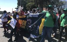 Residents from crime-riddled and gang-infested communities in Cape Town march to Parliament on 3 October 2018. Picture: Kaylynn Palm/EWN