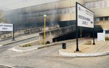 A fire broke out at the Charlotte Maxeke Academic Hospital in Johannesburg on Friday, 16 April 2021. Picture: Twitter/@GautengHealth