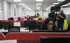 The extended UIF call centre in Johannesburg. Picture: Kayleen Morgan/EWN