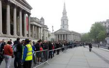 South African expats queue to vote in Trafalgar Square, London, on 30 April 2014. Picture: Twitter via @DA_Abroad.