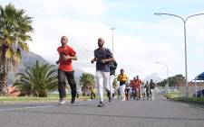 Firefighter hopefuls do the running leg of the physical assessment to join the City of Cape Town's Fire and Rescue service. Picture: Cindy Archillies/EWN