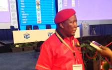 EFF leader Julius Malema visits the IEC's results operation centre in Pretoria on 5 May. Picture: Thando Kubheka/EWN.