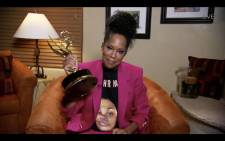 This handout screen shot released courtesy of American Broadcasting Companies, Inc. / ABC shows US actress Regina King wearing a Breonna Taylor shirt as she wins the Emmy for Outstanding Lead Actress In A Limited Series Or Movie with 'Watchmen' during the 72nd Primetime Emmy Awards on 20 September 2020. Picture: AFP