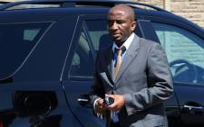 Former crime intelligence head Richard Mdluli's lawyer Ike Motloung, arrives for court. Picture: Sapa.