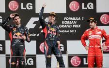 Mark Webber (L). Picture: AFP