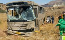FILE: The scene of the bus crash that has claimed the lives of 11 soldiers on the R712 near Golden Gate in the Free State. Picture: @_ArriveAlive.