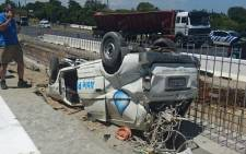 Two people died in an accident at the roadworks on the N1 outgoing on 30 January 2017. Picture: City of Cape Town.