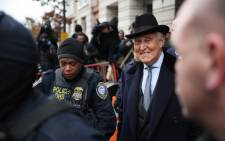 FILE: Roger Stone, former adviser and confidante to US President Donald Trump, leaves the Federal District Court for the District of Columbia after being sentenced 20 February 2020 in Washington, DC. Picture: AFP.