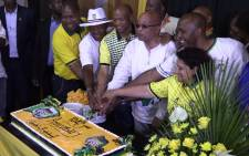 FILE: ANC President Jacob Zuma at the party's 104th birthday celebrations in Rustenburg, North West on 08 January 2016. Picture: Kgothatso Mogale/EWN.