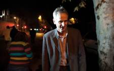 Barend le Grange (58) leaves the Rosebank Police Station on 23 May 2012 after being arrested for defacing 'The Spear'. Picture: Supplied.