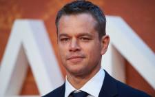 US actor Matt Damon poses for photographers as he arrives for the European premiere of The Martian in Londons Leicester square in September 2015. Picture: AFP.