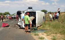 A school bus, light motor vehicle and SUV collided on the R705, 50km outside of Kimberley. Picture: ER24