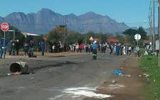 Riebeek Kasteel residents took to the streets during a violent protest on 11 June 2018. Picture: @SAPoliceService/Twitter